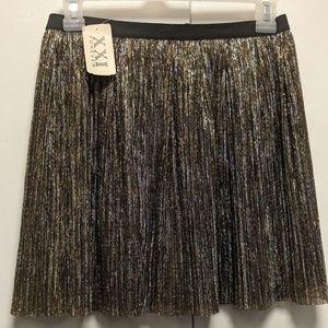 Gold and Black Shimmer Skater Skirt